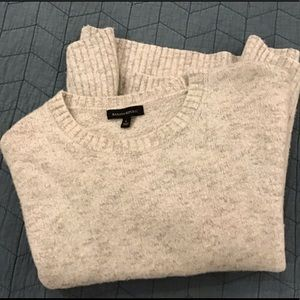 Banana Republic Wool Sweater - cream/gray heather